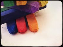 Artist soft pastels. Coloured artist pastels Royalty Free Stock Photography