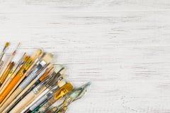 Artist& x27; spazzola di s Può essere usato per progettazione, siti Web, interno, b immagine stock