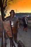 Artist statue Budapest Stock Photo