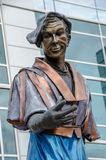 Artist statue in Omaha Royalty Free Stock Photo