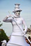 Artist on stilts, street theater Royalty Free Stock Photos
