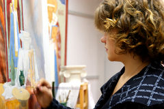 Artist in studio Stock Images