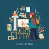Artist Studio Concept Royalty Free Stock Photos