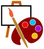 Artist studio logo Royalty Free Stock Photo