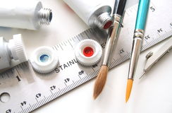 Artist supplies Royalty Free Stock Photography