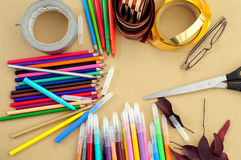 Artist Table Royalty Free Stock Photography
