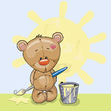 Artist Teddy Bear Stock Image