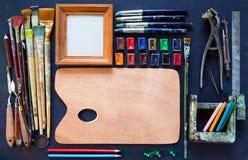 Artist tools Royalty Free Stock Photo