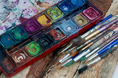 Artist tools of the trade Stock Photos