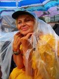 Artist under rain Stock Image
