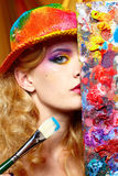 Artist woman Royalty Free Stock Photography