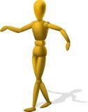 Artist Wooden Mannequin Figurine Stock Images
