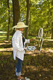 Artist in Woods Stock Image