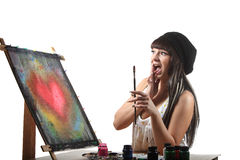 Artist at work Royalty Free Stock Images