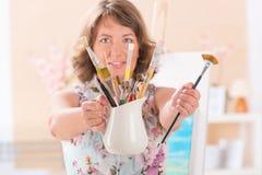 Artist at work Stock Photo