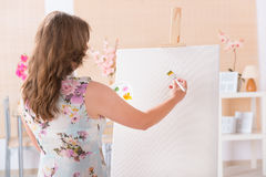 Artist at work Royalty Free Stock Photo