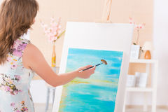 Artist at work Stock Photos