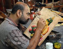 The artist from the workshop of Kandy. Royalty Free Stock Photography