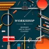 Artist workshop template Stock Images