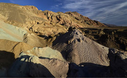 Artist& x27;s Drive Colorful Rocks, Death Valley Royalty Free Stock Photography
