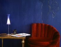 Artist&x27;s Red Chair  Stock Photos