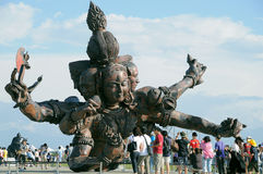 Artist Zhang Huan creation. At the Taoyuan Landscape Art Festival in Taiwan royalty free stock photography