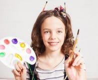 Artista allegro del bambino Immagine Stock