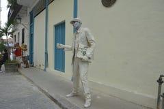 Artista ANZIANO di CUBA HAVANA The Poet Mime fotografia stock libera da diritti