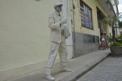 Artista ANZIANO di CUBA HAVANA The Poet Mime fotografia stock