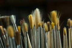 Artista Brushes Fotografia Stock Libera da Diritti