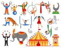 Artista Characters Collection del circo Fotos de archivo libres de regalías