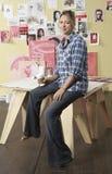 Artista con café de la mañana Fotografía de archivo libre de regalías