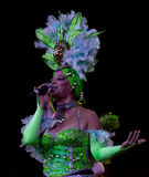 Artista cubano al cabaret di Tropicana Immagine Stock