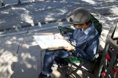 Artista da rua de Las Vegas foto de stock