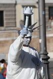 Artista da rua em Roma Foto de Stock Royalty Free