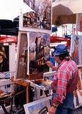 Artista da rua, Paris Foto de Stock