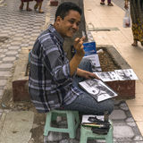 Artista da rua, pintor Fotos de Stock Royalty Free