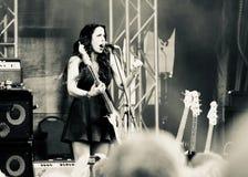 Artista Danielle Nicole dei blu di concerto a Mont Tremblant il 12 luglio 2018 Fotografia Stock Libera da Diritti