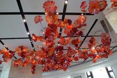 Artista de cristal Dale Chihuly del casino del hotel de MGM de Macao Fotografía de archivo