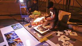 Artista de la calle de Roma metrajes