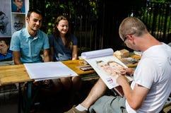 Artista de la calle en Bucarest Foto de archivo libre de regalías