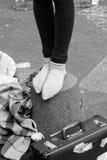 Artista de la calle en el festival de la franja en edimburgh Imagen de archivo libre de regalías