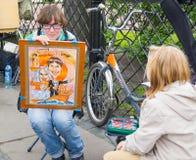 Artista de la calle, St Petersburg Fotos de archivo libres de regalías