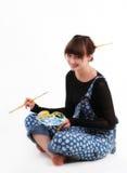 Artista de la hembra de Smling Imágenes de archivo libres de regalías