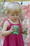 Artista de la niña Foto de archivo
