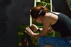 Artista de la pintada Foto de archivo libre de regalías