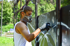 Artista de la pintada Foto de archivo