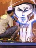 Artista de la pintada Imagen de archivo libre de regalías