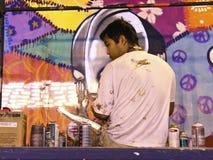 Artista de la pintada Imagen de archivo
