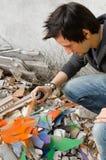 Artista de la pintada del Grunge Imágenes de archivo libres de regalías
